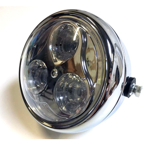 Full led headlight 6'' Modern chrome