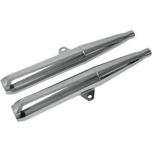 Exhaust mufflers Moto Guzzi V7 Special Mac chrome pair