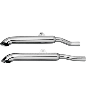 Exhaust mufflers Honda GL 1000 Goldwing Mac TurnDown chrome pair