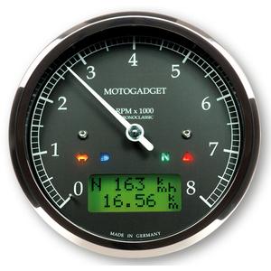 Electronic multifunction gauge Motogadget ChronoClassic Tacho 8K