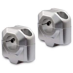 Handlebar risers SW-Motech 20mm handlebar 22mm grey pair
