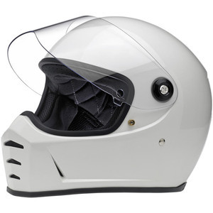 Casco moto integrale Biltwell Lane Splitter bianco
