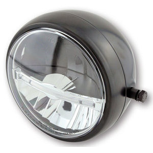 Full led headlight 5.3/4'' Highsider Jackson black matt