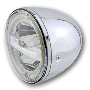 Full led headlight 5.3/4'' Highsider Circle chrome