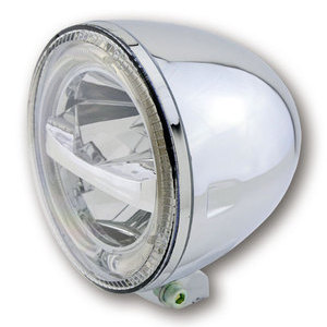 Full led headlight 5.3/4'' Highsider Circle low mounting chrome