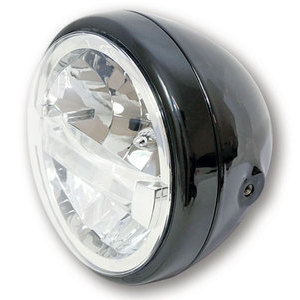 Full led headlight 7'' Highsider Reno Type 4 black polish