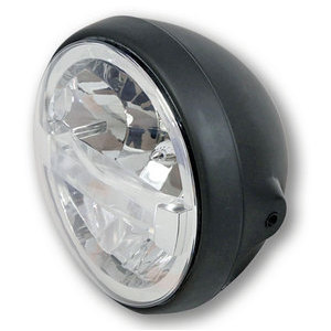 Full led headlight 7'' Highsider British black matt