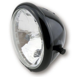 Faro anteriore 5.3/4'' Bates alogeno nero lucido