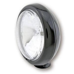 Faro anteriore 4.5'' alogeno attacco basso abbagliante nero lucido lente liscia