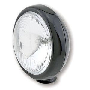 Faro anteriore 4.5'' alogeno attacco basso abbagliante nero lucido lente rigata