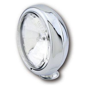 Faro anteriore 4.5'' alogeno attacco basso abbagliante cromo lente liscia
