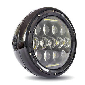 Full led headlight 7'' Multi black polish