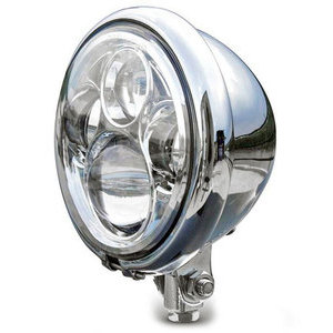 Full led headlight 5.3/4'' Bates low mounting chrome