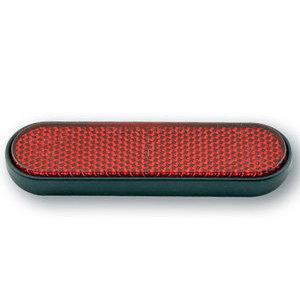 Catarifrangente posteriore 100x28mm autoadesivo curvo rosso