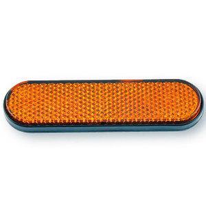 Catarifrangente posteriore 100x28mm autoadesivo curvo arancione