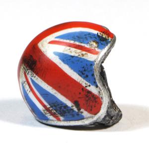 Keyholder pendant helmet British Flag