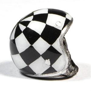 Ciondolo portachiavi casco Bandiera a Scacchi