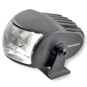 Full led headlight oval Highsider Comet high beam black matt