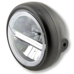 Full led headlight 5.3/4'' Highsider Pecos Type 6 black matt