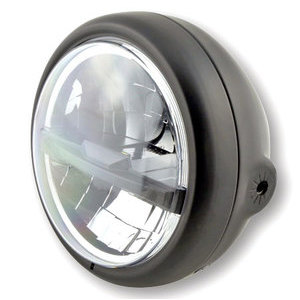 Full led headlight 5.3/4'' Highsider Pecos Type 5 black matt