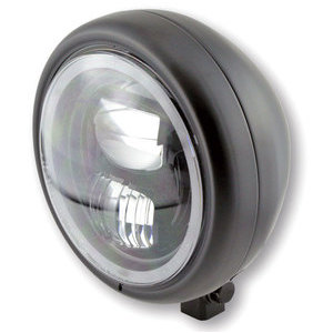 Full led headlight 5.3/4'' Highsider Pecos Typer 7 low mounting black matt