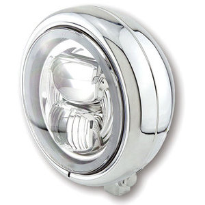 Full led headlight 5.3/4'' Highsider Pecos Typer 7 low mounting chrome