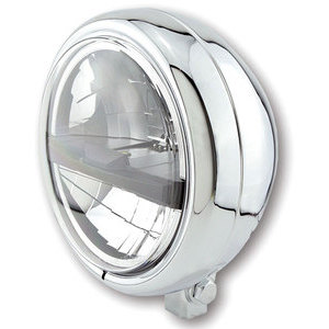 Full led headlight 5.3/4'' Highsider Pecos Typer 5 low mounting chrome
