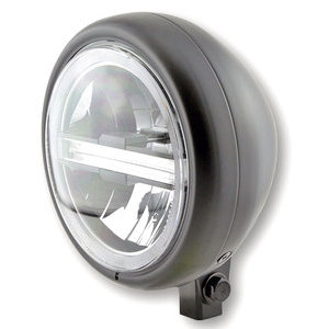 Full led headlight 5.3/4'' Highsider Pecos Typer 5 low mounting black matt