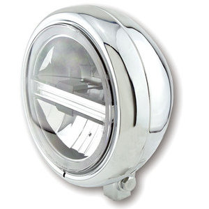 Full led headlight 5.3/4'' Highsider Pecos Typer 6 low mounting chrome