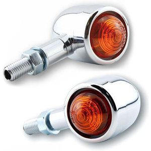 Halogen winkers Old School pair chrome