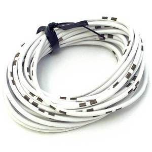 Electrical cable 0.82mm white