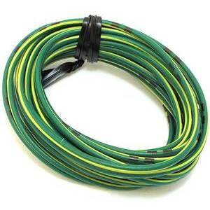 Electrical cable 0.82mm green/yellow