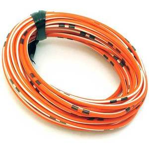 Electrical cable 0.82mm orange orange/white