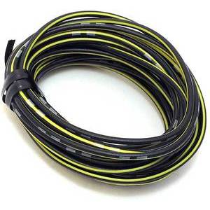 Electrical cable 0.82mm black/yellow