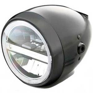 Full led headlight 5.3/4'' Daytona Vintage black