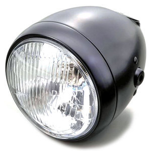 Halogen headlight 5.3/4'' Daytona Vintage black