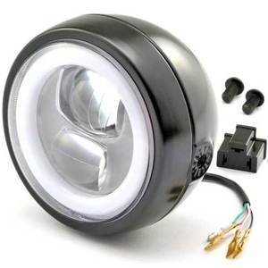 Full led headlight 4.75'' Daytona Capsule-120 black