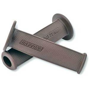 Handlebar grips Daytona D-Delta open ends 22mm brown
