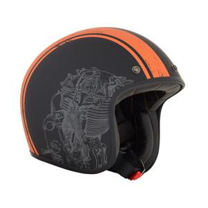 Casco moto aperto AFX Raceway Orange