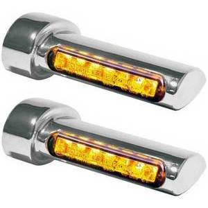 Led winkers Harley-Davidson -'17 rear Heinz Bikes Winglets chrome smoked pair