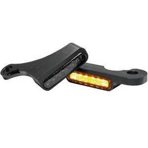 Led winkers Harley-Davidson Dyna front Heinz Bikes black matt smoked pair
