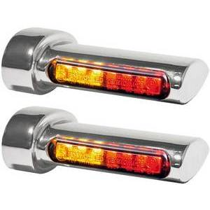 Led winkers Harley-Davidson taillight combo pair Heinz Bikes chrome smoked pair