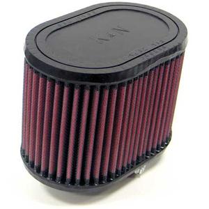 Filtro a trombetta per Harley-Davidson Ironhead XR 1000 K&N cilindrico ovale inclinato 20°