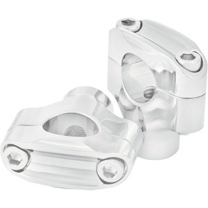 Handlebar 1'' risers Roland Sands height 1.1/2'' chrome pair