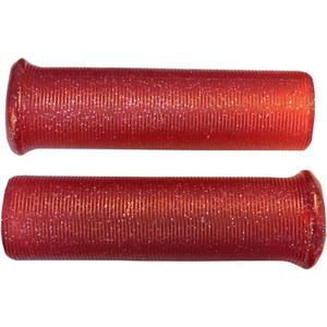 Coppia manopole Emgo Star Fire Flake 1'' rosso