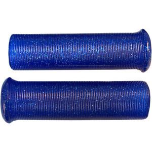 Coppia manopole Emgo Star Fire Flake 1'' blu
