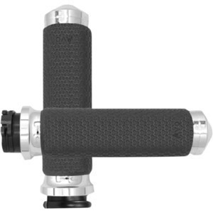 Coppia manopole per Harley-Davidson gas elettronico Avon Memory Foam 38mm cromo