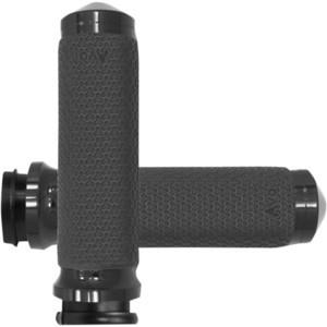 Coppia manopole per Harley-Davidson gas elettronico Avon Memory Foam 35mm nero