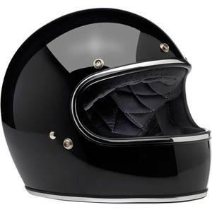 Casco moto integrale Biltwell Gringo nero lucido