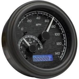 Electronic multifunction gauge Harley-Davidson Tourign '96-'03 Dakota Digital body black dial black